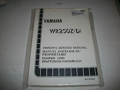 Nos 1992 Yamaha Wr250Z(D)  Motorcycle Shop Service Manual Clean Have More