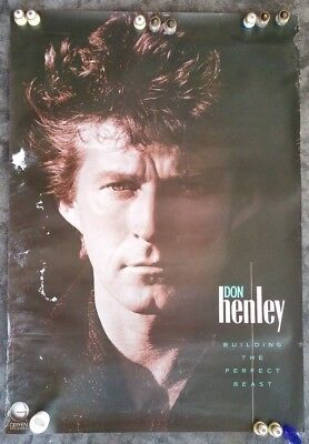 """Original DON HENLEY """"Building The Perfect Beast"""" InStore Promotional POSTER-1984"""