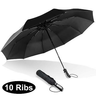 Large Umbrella Fully-Automatic Folding Strong Windproof Rain Umbrella Unisex Use