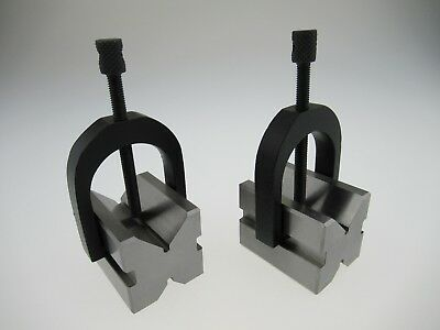 MicroMark 2X V Blocks With Clamps for Mircrolux Miniature Milling Machine