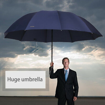 60inch Large Umbrella Men/Women Three Folding Anti-UV Windproof Rain Umbrella