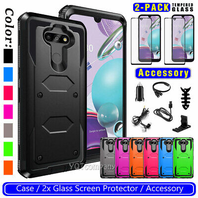 LG K20 Plus / K20 V / Harmony Case Dual Layer Holster with Kickstand & Belt Clip
