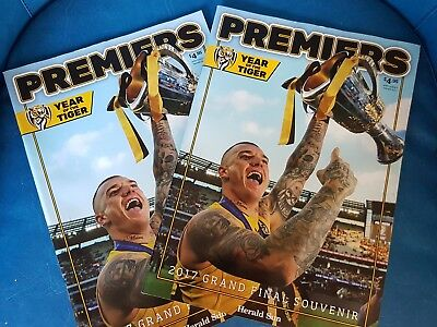 2017 Afl Richmond Grand Final Premiers Magazine  Year Of The Tiger. 2 Copies !!