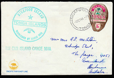 1944 - Tonga Tin Can Mail Cover - Mailed At Sea S.s. Monterey To Australia