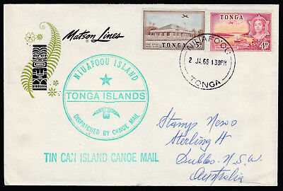 "1966 - Tonga Tin Can Mail Cover - S.s. Mariposa - Addressed To ""stamp News"""