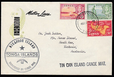 1966 - Tonga Tin Can Mail Cover - S.s. Mariposa - Addressed To Victoria Aust