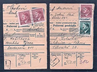 WW2 Postal Orders Czech German Reich Stamps with Hitler Postal History
