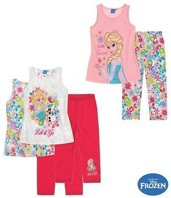 Girls Disney Frozen Top And Leggings Outfit Set Size 6,8,10 Years