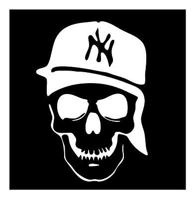 Brooklyn Skull Sticker
