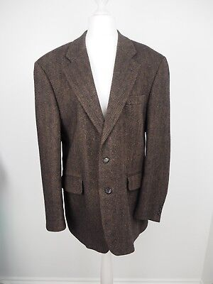 Mens Vintage Jacket Herringbone Blazer Brown Peaky Blinders