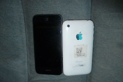 TWO iPhones for Parts One black one white for PARTS