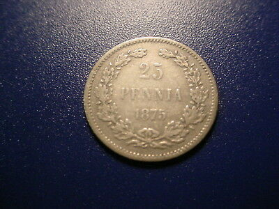 Finland - Silver - 1875 25-Pennia In Very Nice Condition