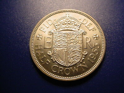British 1953 1/2-Crown In Brilliant Uncirculated Condition