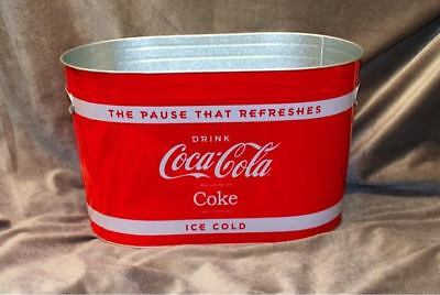100% BRAND NEW Coca-Cola® Large Galvanized Party Tub