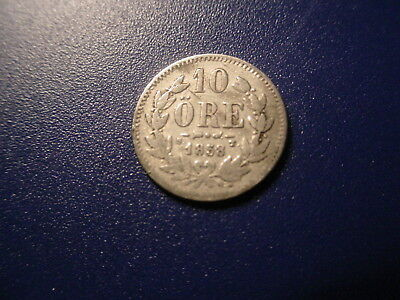 Sweden - Silver - 1858 10-Ore In Very Nice Condition