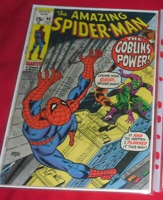 Amazing Spiderman 98# 1971 The Green Goblins Power, Great Comic !