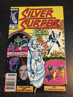 Silver Surfer#17 Incredible Condition 9.0(1988) Ron Lim Art, Wow!!