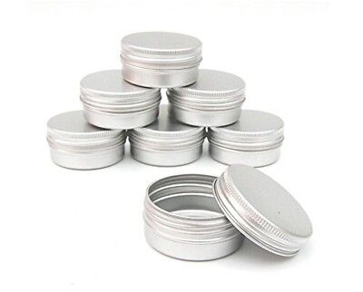 Pack of 10 Balm Nail Art Cosmetic Cream Make Up Pot Lip Jar Tin Case Container S