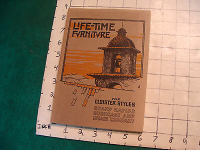Arts & Crafts book: LIFE-TIME FURNITURE the cloister styles 1981 repro