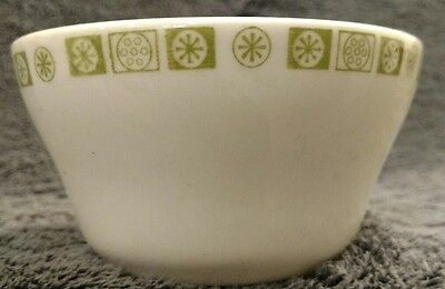 Buffalo China Green White Soup Cup Bowl Flowers Floral Stars Restaurantware