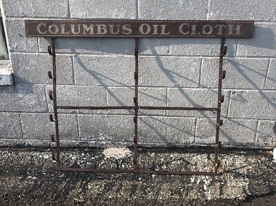 Antique Country Store COLUMBUS Oil Cloth Display Rack