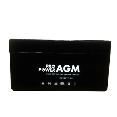 12V 1.2AH Battery - Non-Spillable Sealed Rechargeable Battery - Free Freight