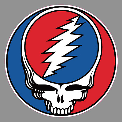 "Grateful Dead 6"" Logo Steal Your Face Premium Vinyl Sticker / Rock / Band"