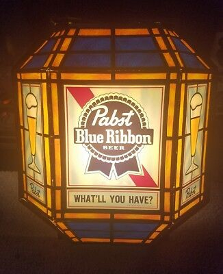 Vintage Pabst blue ribbon light