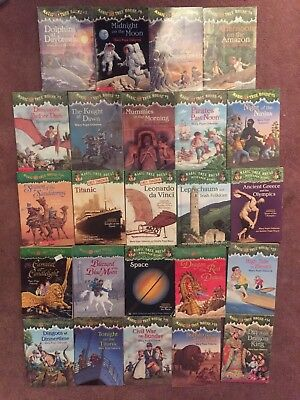 Lot of 24 Magic Tree House Merlin Mission Research Guide Books Mary Pope Osborne
