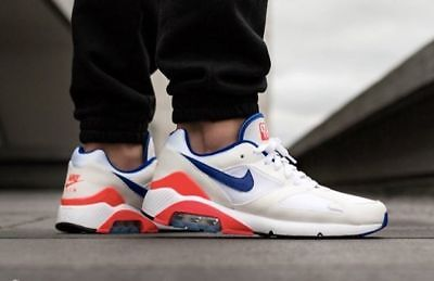 Nike Air Max 180 Og Blue / Red Ultramarine Brand New In Box Uk 7 8 9 10 11 12