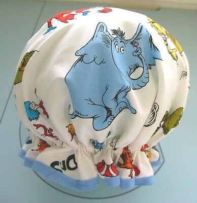 Dr Seuss Child  Cotton Shower Cap Too Cute Water Proof Lining