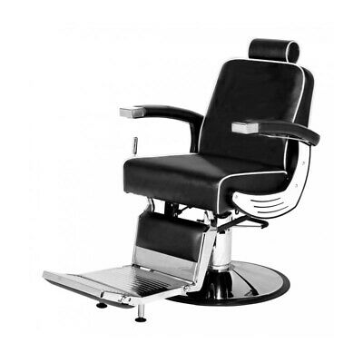 PureOX Barber Chair with Recline System BS-0405 - Black Barber Salon