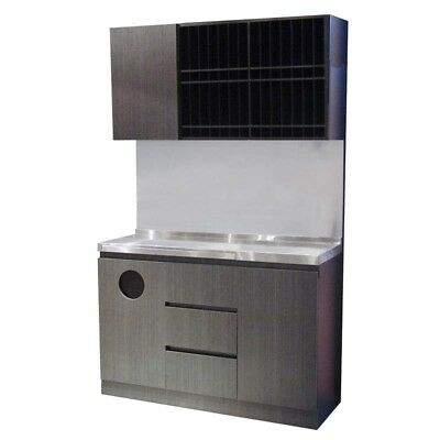 PureOx All-in-one Cabinet with Stainless Steel Bench, Colour rack, Towel Bin ...