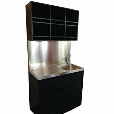 PureOx All-in-one Cabinet with Sink, Stainless Steel Bench, Colour rack, Towe...
