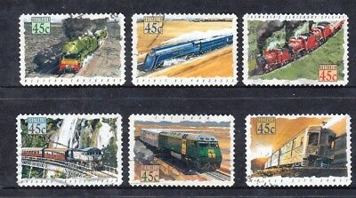 1993 Australian Decimal Stamps - Trains (Railways) - FU set of 6