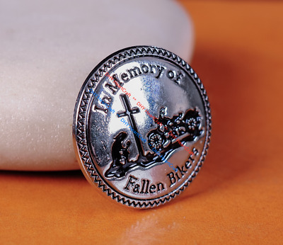 10X 30Mm Silver Biker Motorcycle Conchos In Memory Of Fallen Bikers Screw Back