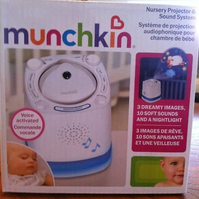 Munchkin Nursery Projector and Sound System, White - New