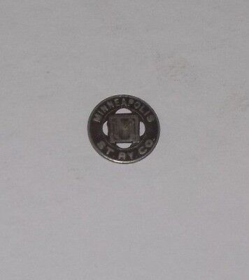 Vtg 1960's Minneapolis ST. RY. CO. Good For one Fare Metal Token NM Coin Medal