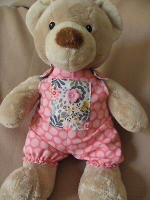 Dungarees/onsie to fit 15in Pumpkin Patch teddy  girls clothes build a bear