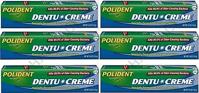 Polident Dentu Creme 3.9 oz  tubes Triple Mint Freshness ( 6 pack )***