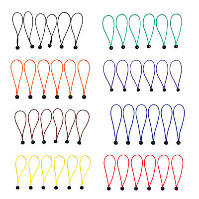 "6pcs 15cm/5.9"" Heavy Duty Ball Bungee Elastic Cord Tie Downs Tarp Accessory"