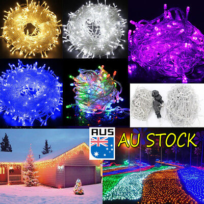 500 LED 100M Fairy Christmas Wedding String Lights Party Outdoor Garden Patio AU