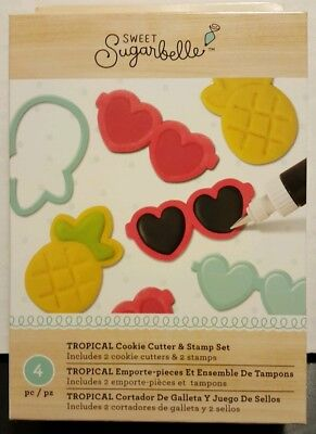 3d50dd5a525 NEW SWEET SUGARBELLE Tropical Cookie Cutter   Stamp Set