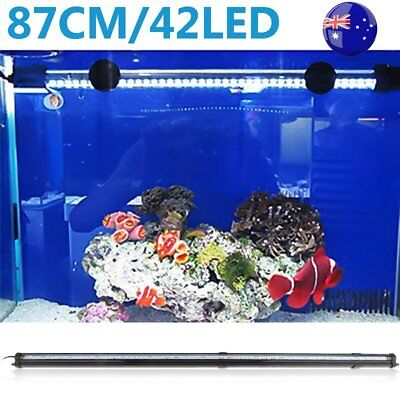 87CM RGB Remote LED Aquarium Fish Tank Bar Light Waterproof Submersible Lamp ON