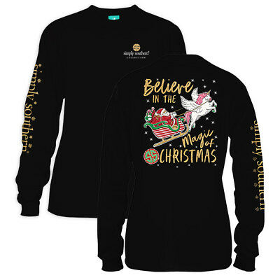 Simply Southern Tee BELIEVE IN THE MAGIC OF CHRISTMAS Long Sleeve