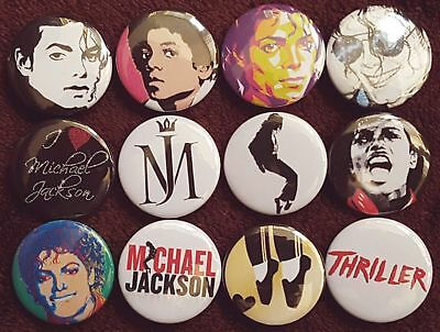 Michael Jackson Button Badges. Pins. Collector. Bargain. 25mm in Size. :0)