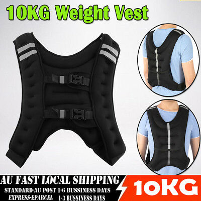 10KG Weighted Vest Adjustable Weight Vests MMA Gym Crossfit Training Sports -AS