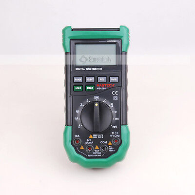 Mastech MS8268 Digital Multimeter Sound Light Alarm AutoRange FuseFrequency Test