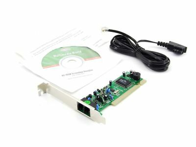 MS-Tech 56k V92 Fax Voice Modem Card PCI Internal RJ11 V.92 SmartLink SL1800
