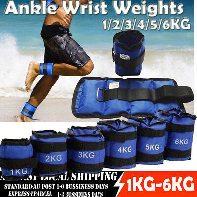 Adjustable Ankle/Wrist Weights Strap GYM Equipment Yoga Fitness Training 1 - 6KG